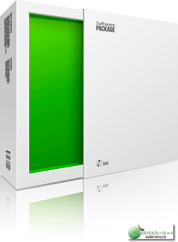 矢量素材下载:产品包装立体柜矢量模板