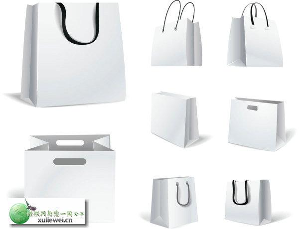 矢量素材下载:产品包装手提袋矢量素材