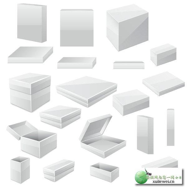 矢量素材下载:产品包装小盒子矢量素材
