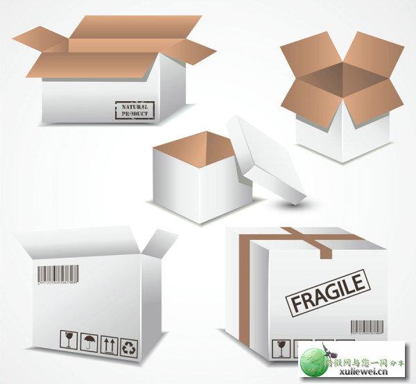 矢量素材下载:产品包装箱子矢量素材