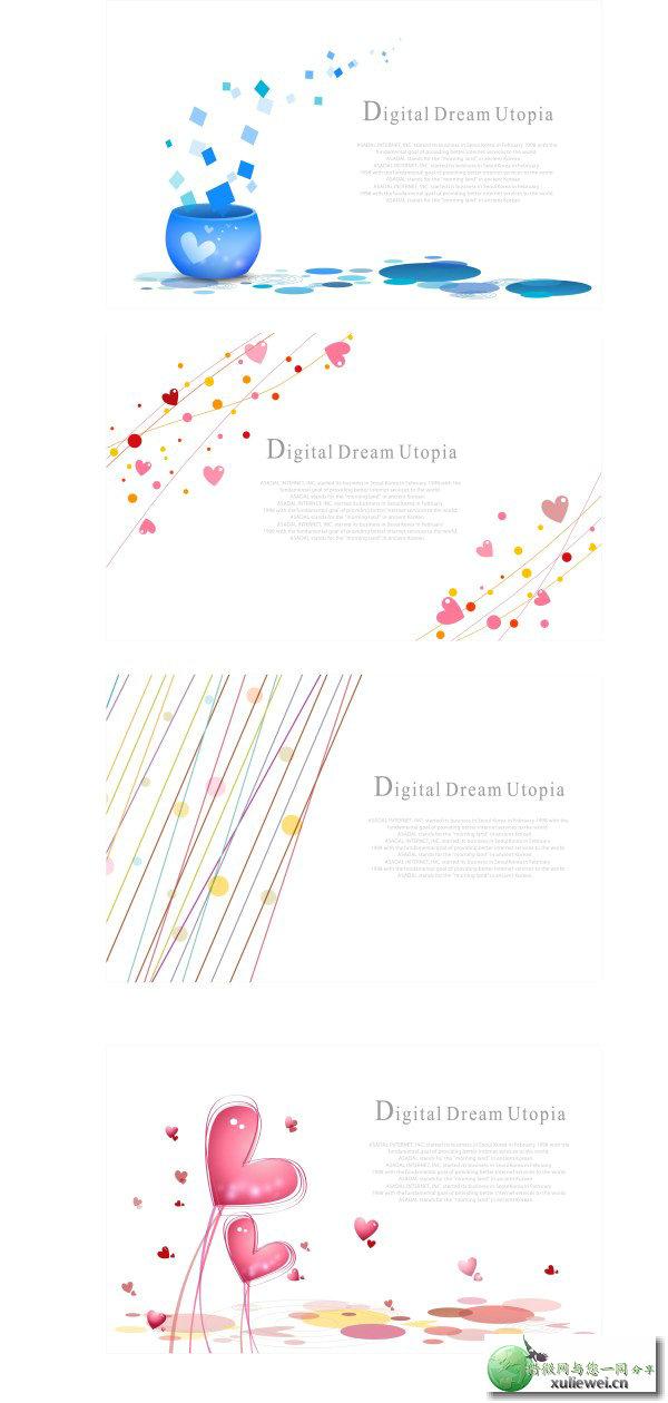 矢量素材下载:简洁线条图案矢量素材