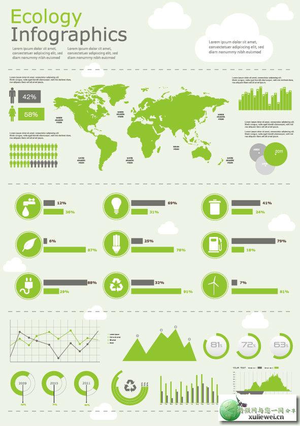 矢量素材下载:数据信息图矢量素材