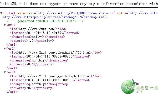 wordpress二次开发:网站地图sitemap的html和xml纯代码方法