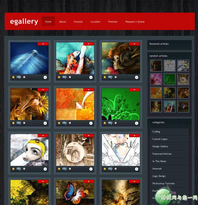 wordpress图片主题:免费漂亮多eGallery图片主题下载