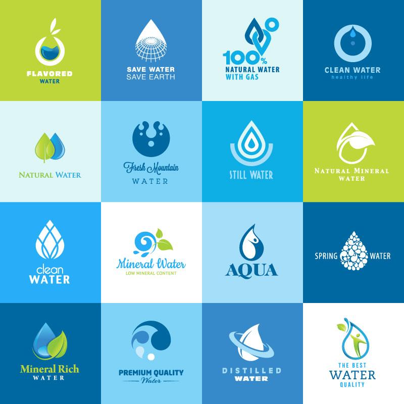 矢量素材下载:精致水滴标志矢量素材