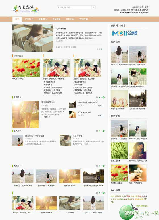 wordpress图片主题:weimei图片展示类主题下载