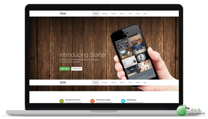WordPress免费单页面模板:Starter主题