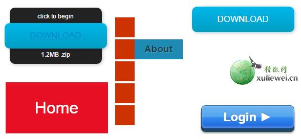 纯CSS3动画按钮效果 5种漂亮样式免费下载