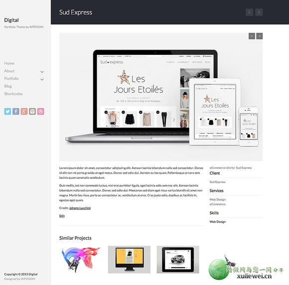 WordPress展示主题:Digital作品展示v1.0.2