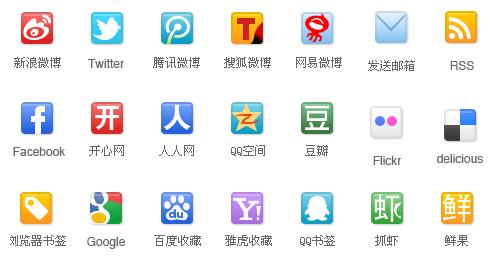 图标素材:国人常用Web 2.0服务图标资源包下载