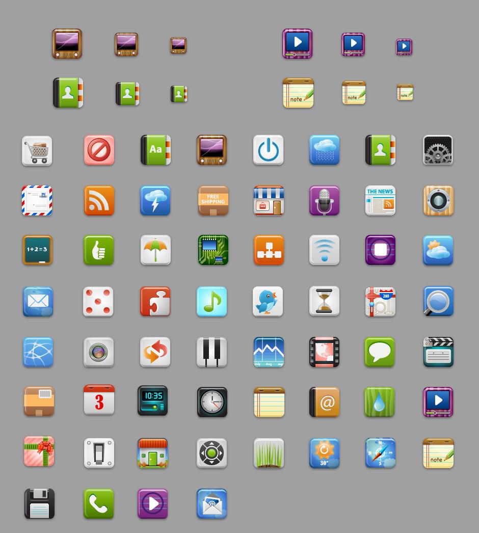 图标素材:60个免费图标下载
